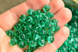 Czech Glass Melon Beads, Teal - 8.5x6mm - 25-pc Set