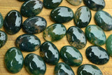Moss Agate Smooth Cabochons (no drill hole) - 18x13mm - Sold individually