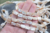 "Mother-of-Pearl Rectangles - 12x8mm - 15"" Strand"