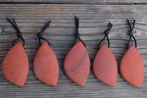 MATTE Red Jasper Free Form Pendant - Around 22x30mm - Sold Individually by #