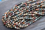 "Red Creek Jasper Rounds - 6mm - 15"" Strand"