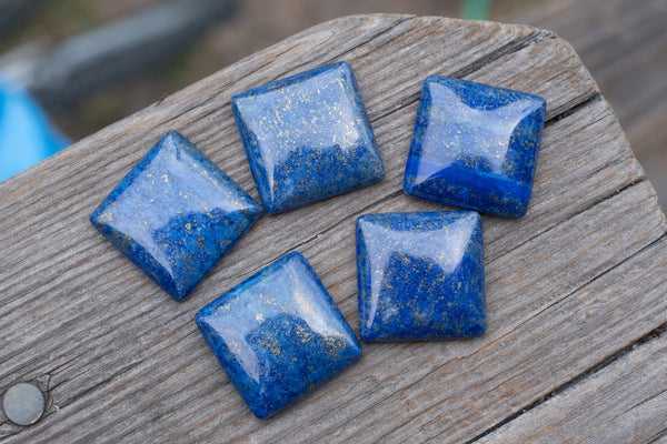 Lapis Square Cabochons (NO HOLE) - 25mm - Sold Individually