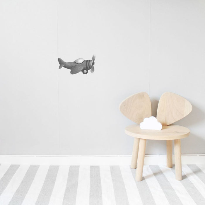 Wallsticker - Stickstay - Airplane - Grå