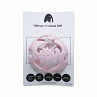 Silicone teethning ball - Baby pink