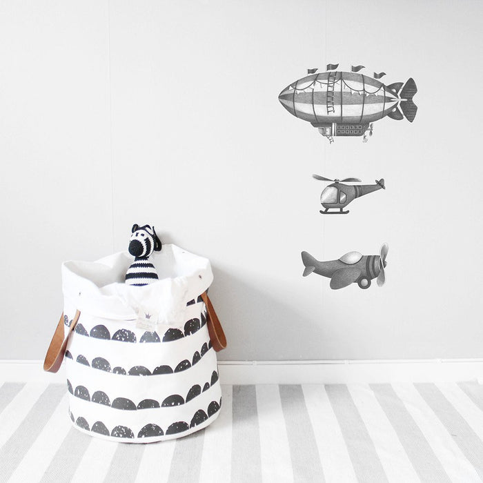 Wallsticker - Stickstay - Helicopter - Grå