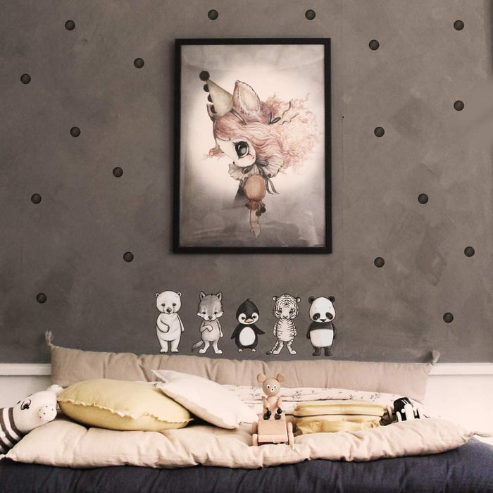 Stickstay - Wallsticker - Dots - Svart