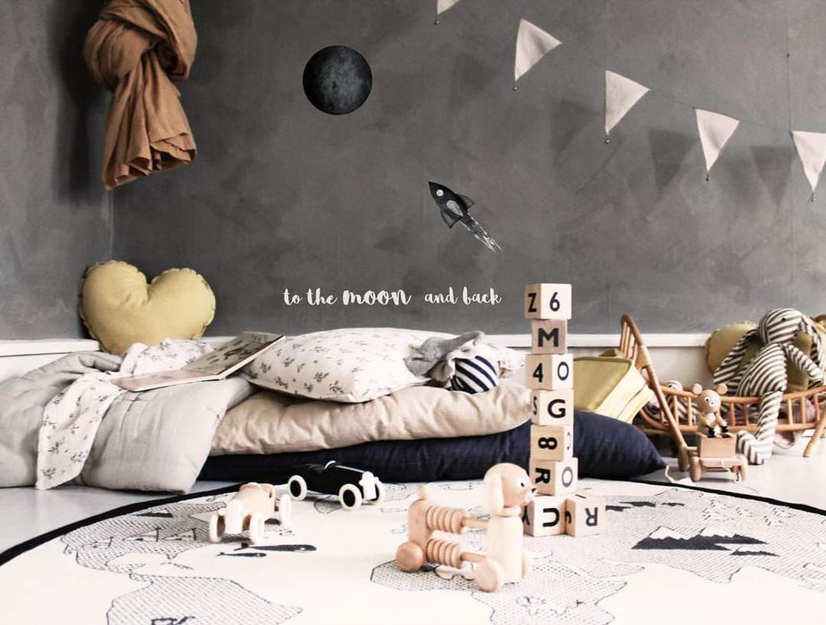 Stickstay - Wallsticker - To the moon and back - Hvite