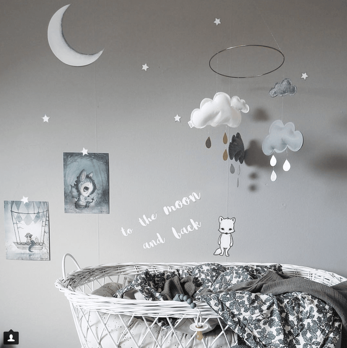 Stickstay Wallsticker To the moon and back