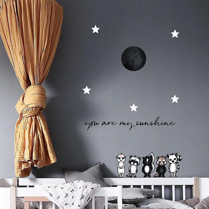 Stickstay - Wallsticker - Moon - Black