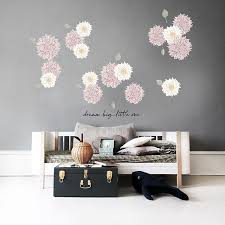Stickstay Wallsticker Dusty Pink Dahlias på vegg