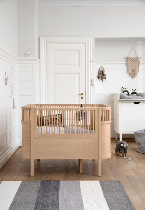 Sebra - Seng baby & junior - Wooden edition