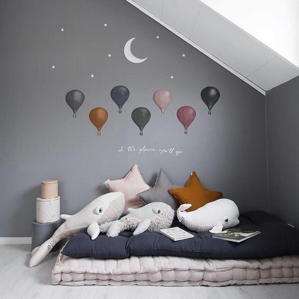Wallsticker - Stickstay - Ballong - Navy Blue 3pk
