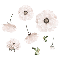 Wallsticker - That's Mine, Poppy flower (White)