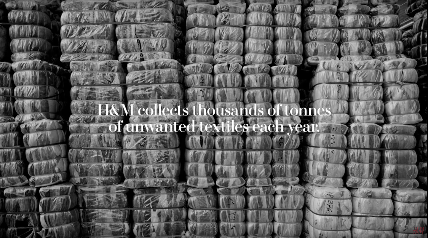 H&M collects tons of unwanted clothes each year