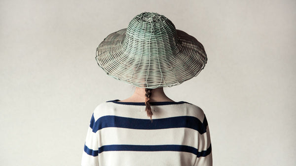 hat made from recycled plastic
