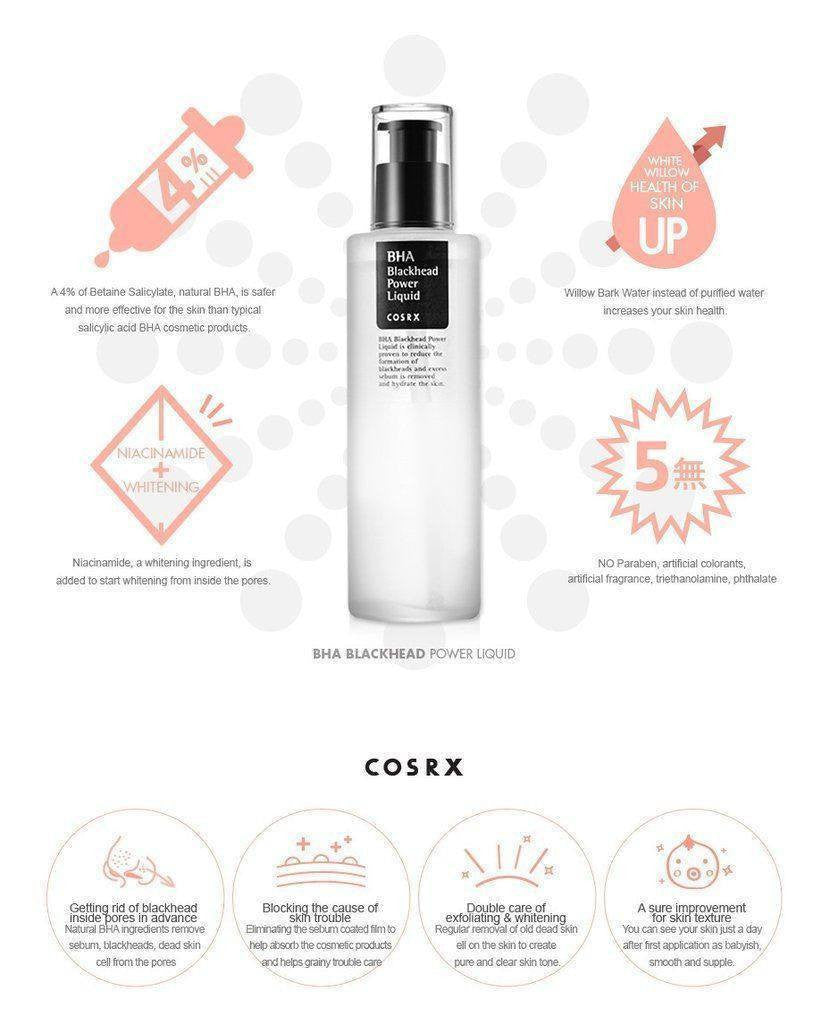 Cosrx BHA Blackhead Power Liquid made by Cosrx is a toner lovingly curated by Lilac and Berries - a Korean skincare store in Australia and NZ