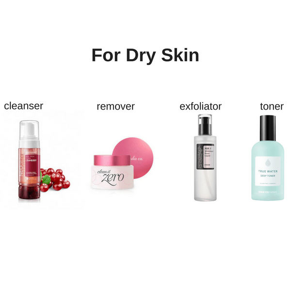 Starter Skin Care Set For Dry Skin made by Lilac and Berries is a Skincare kit lovingly curated by Lilac and Berries - a Korean skincare store in Australia and NZ