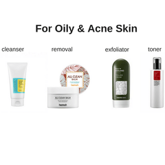 Starter Korean Skin Care Set for Oily & Acne Skin