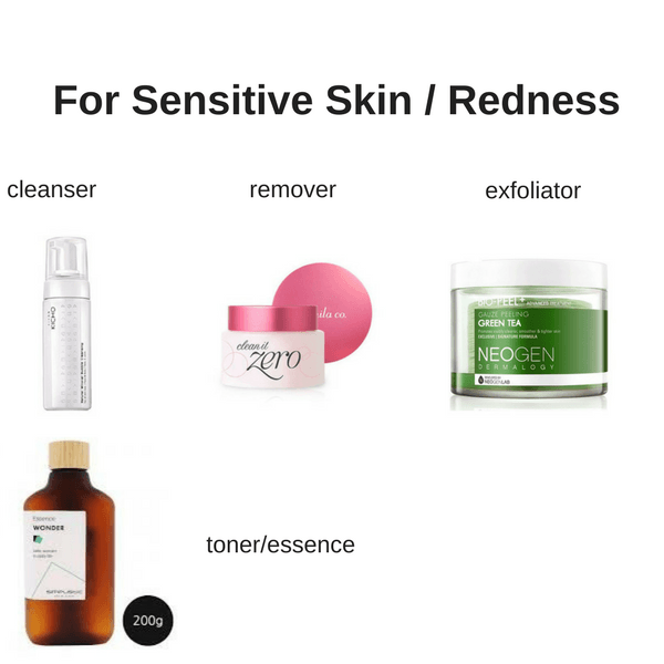 Starter Korean Skin Care Set For Sensitive/Redness Skin