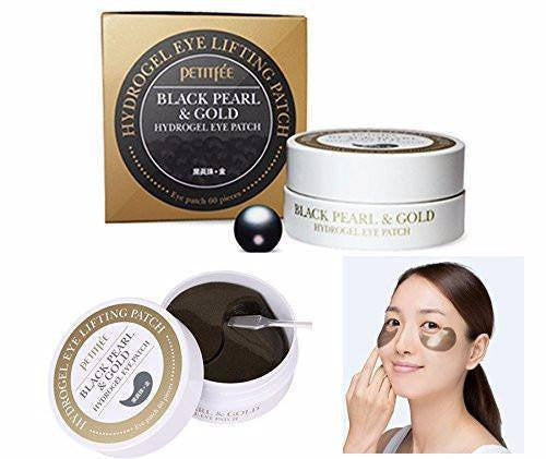Petitfee Black Pearl & Gold Hydrogel Eyes Patch - 60PCS made by Petitfee is a Eye patch lovingly curated by Lilac and Berries - a Korean skincare store in Australia and NZ