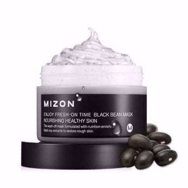 Mizon Enjoy Fresh On Time - Black Bean Mask made by Mizon is a Face mask lovingly curated by Lilac and Berries - a Korean skincare store in Australia and NZ