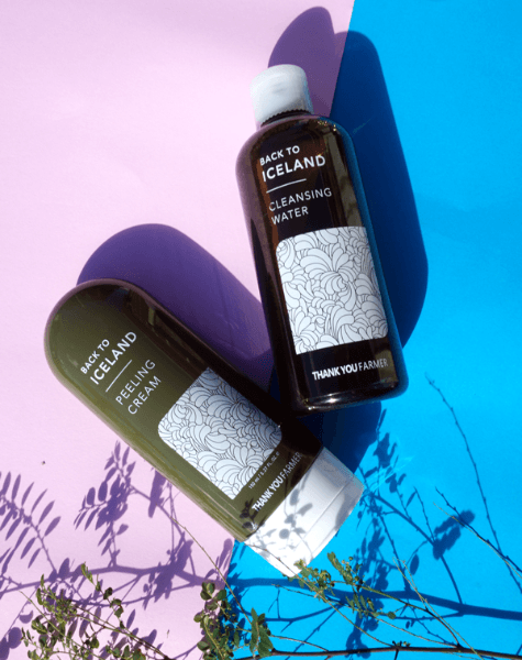 Thank You Farmer Back To Iceland Cleansing & Peeling Duo Set made by Thank You Farmer is a  lovingly curated by Lilac and Berries - a Korean skincare store in Australia and NZ