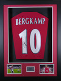 Dennis Bergkamp Arsenal Signed Shirt 3D Display with COA