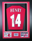 Thierry Henry Arsenal Signed Shirt 3D Display with COA