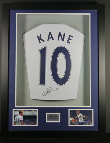 Harry Kane Tottenham Hotspur Signed Shirt 3D Display with COA
