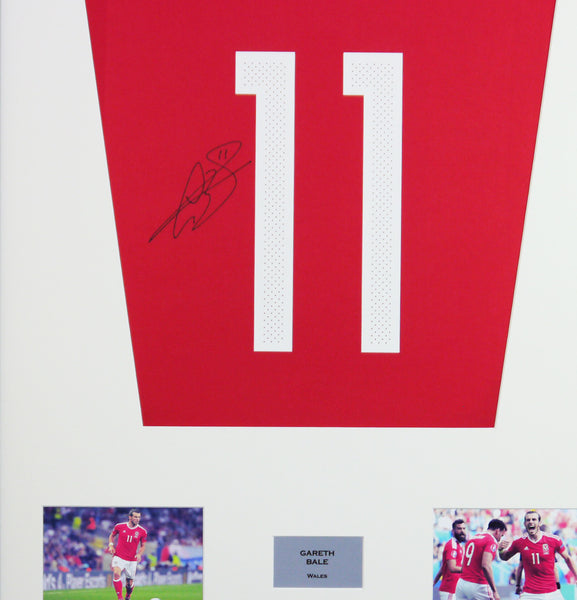 Gareth Bale Wales Signed Shirt Display With COA - Kicking The Balls