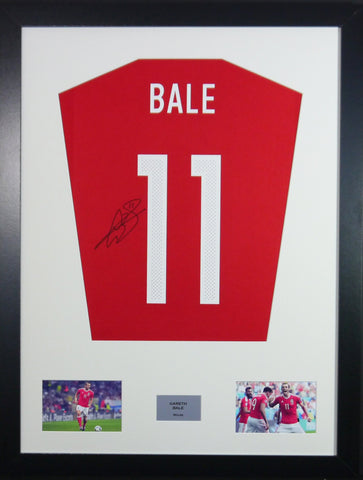 Gareth Bale Wales Signed Shirt Display With COA
