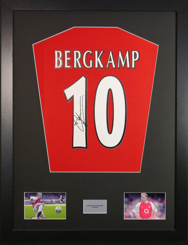 Dennis Bergkamp Arsenal Signed Shirt Display With COA - Kicking The Balls