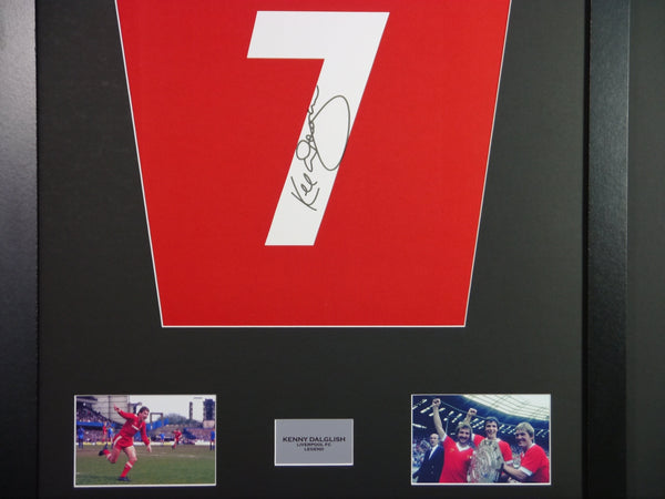 Kenny Dalglish Liverpool Signed Shirt Display With COA