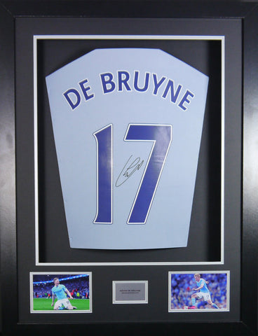 Kevin De Bruyne Manchester City Signed Shirt 3D Display with COA
