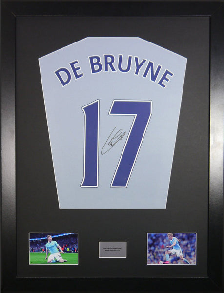 Kevin De Bruyne Manchester City Signed Shirt Display with COA