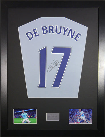Kevin De Bruyne Manchester City Signed Shirt Display with COA - Kicking The Balls