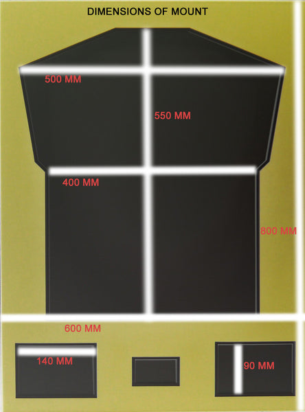 E.Z Sports Shirt Framing Kit with FREE custom plaque - large 680 x 880 mm