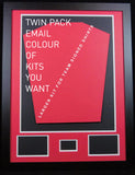 D.I.Y Football Shirt Framing Kit with customised plaque