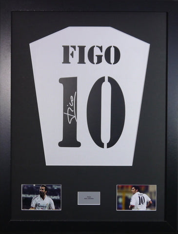 Luis Figo Real Madrid Signed Shirt Display With COA - Kicking The Balls
