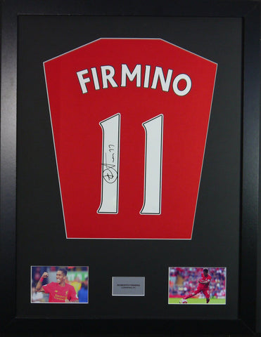Roberto Firmino Liverpool Signed Shirt Display With COA