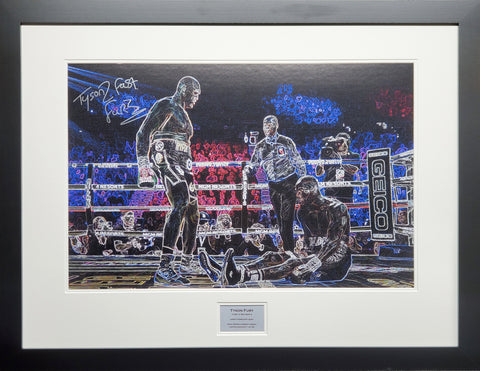 Tyson Fury Signed Artwork Display Limited Edition 1 of 25 with COA - Kicking The Balls