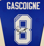 Paul Gascoigne Rangers Signed Shirt Display With COA