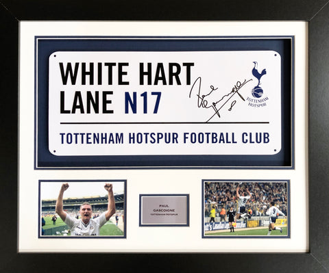 Paul Gascoigne Tottenham Hotspur Street Sign 3D Display with COA - Kicking The Balls