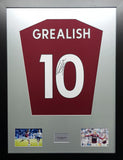 Jack Grealish Aston Villa signed shirt Display with COA Premier League Edition