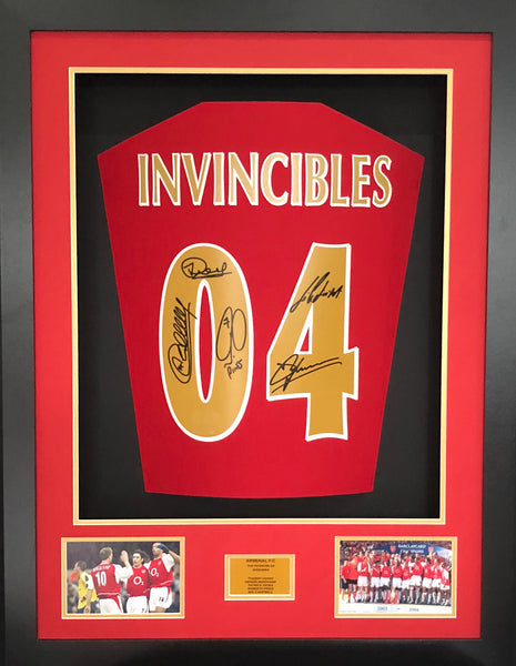 Invincibles Arsenal Signed Shirt 3D Display with COA LTD Edition