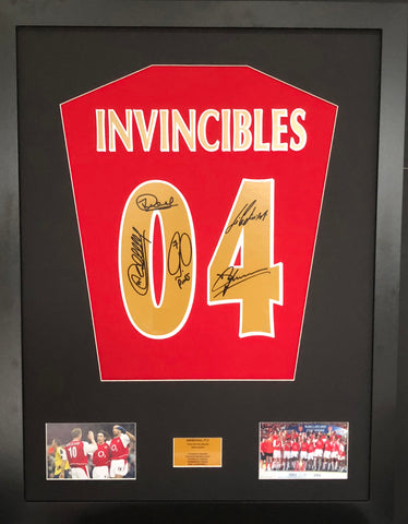 Invincibles Arsenal Signed Shirt Display With COA