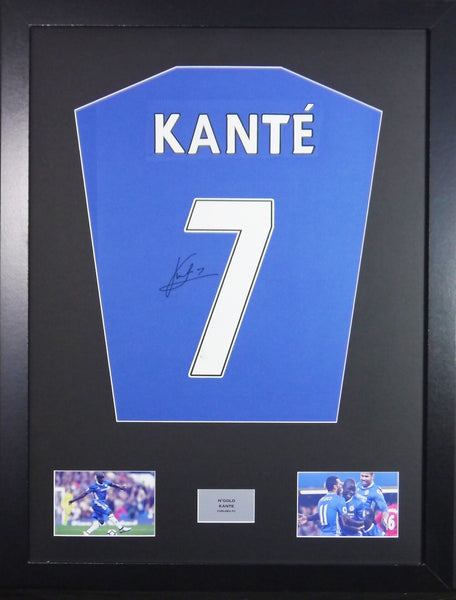 N'Golo Kante Chelsea Signed Shirt Display With COA