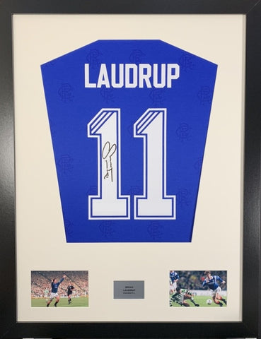Brian Laudrup Rangers Signed Shirt Display With COA - Kicking The Balls