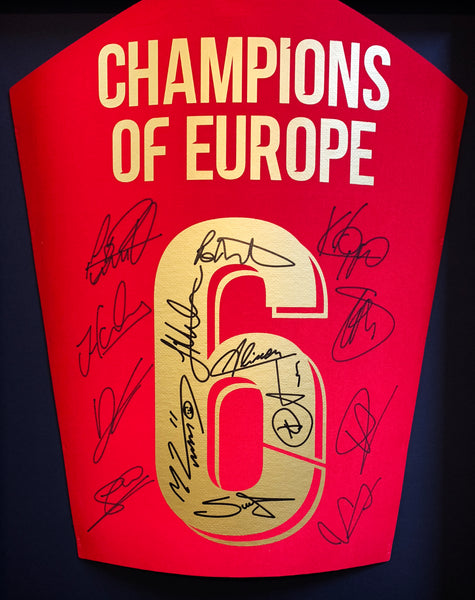 Liverpool Team Signed Shirt Champions League 3D Display with COA - Kicking The Balls