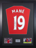Sadio Mane Liverpool Signed Shirt Display With COA